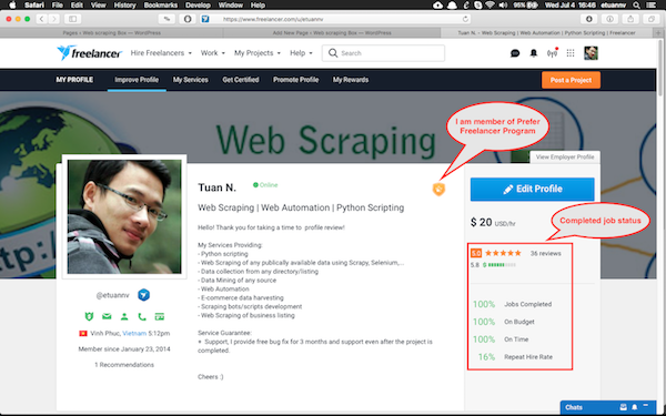 Web Scraping, Web Automation, Python Scripting services - etuannv