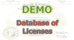 Demo for database of license system