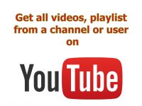 Get video, playlist from an Youtube channel or user