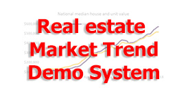 Real estate market trend demo system
